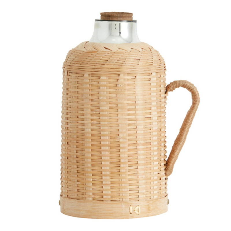 Nordal-collectie FIONA jug w. bamboo cover, 1,6 ltr