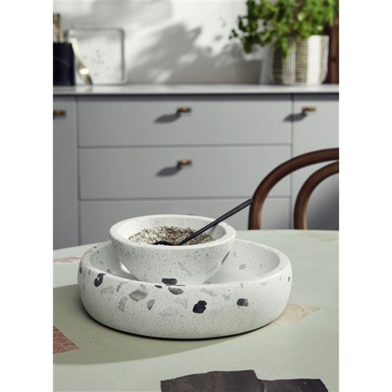 Nordal-collectie Terrazzo bowl, beige, large chips, large