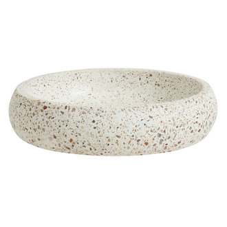 Nordal Terrazzo bowl, white/beige, large