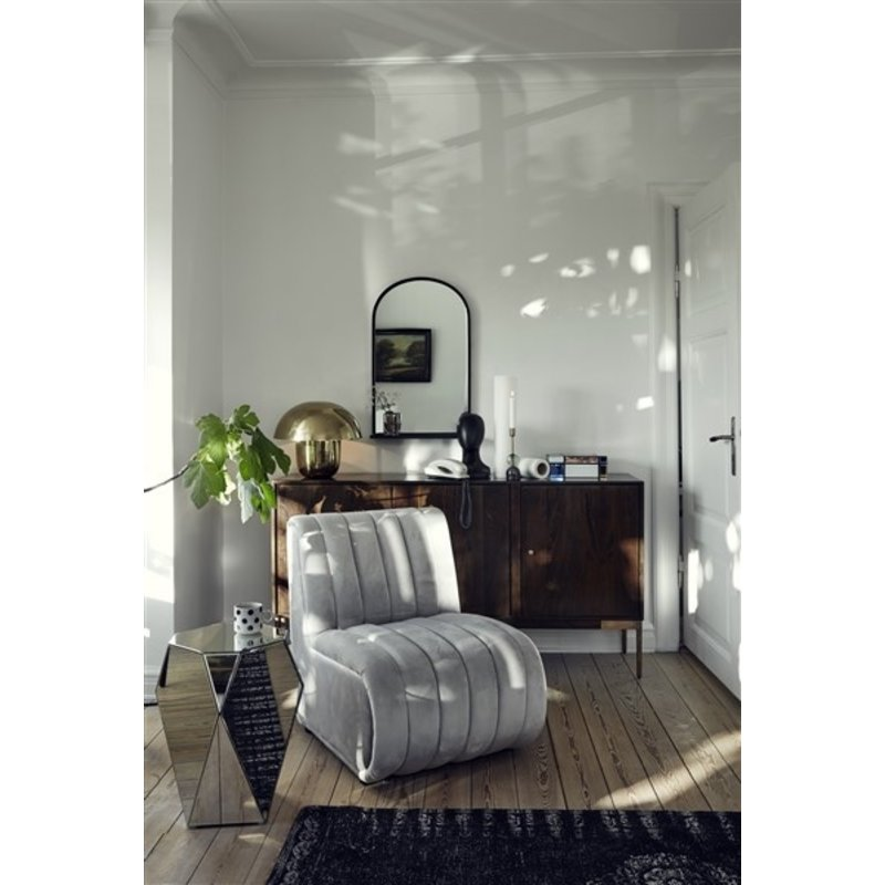 Nordal-collectie ASTI lounge chair, Velvet, Grey col.