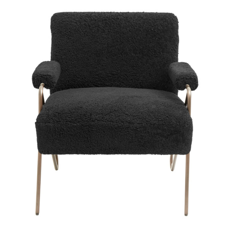 Nordal-collectie IRO sheep skin chair, black col.