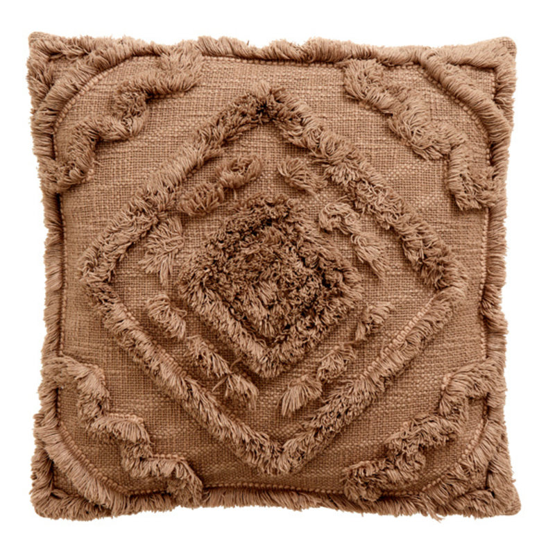 Nordal-collectie SHAGGY cushion cover, greyish brown