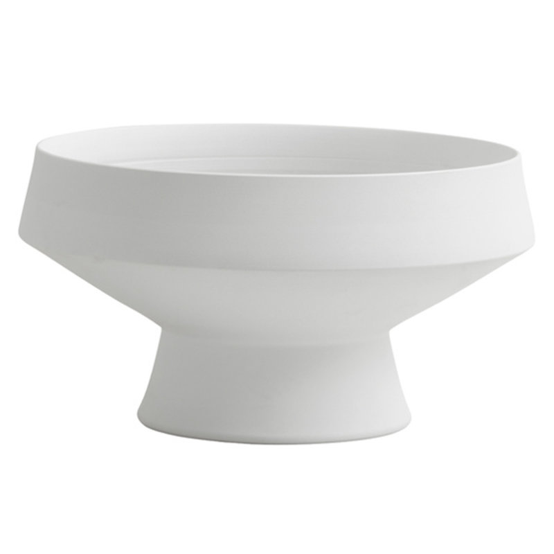 Nordal-collectie YUDA bowl on base, col. white