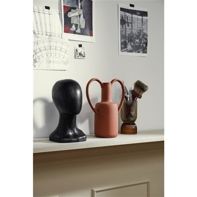 Nordal-collectie PROMISE clay vase, tall, 2 handles