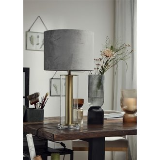 Nordal LAMPA stander, clear glass w/gold detail