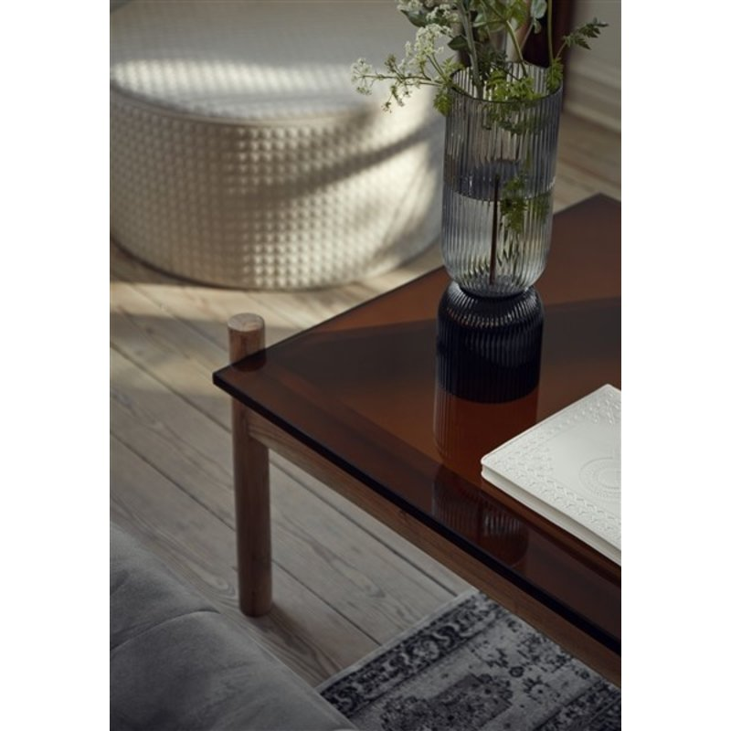 Nordal-collectie AMBER coffee table, square, wood/glass