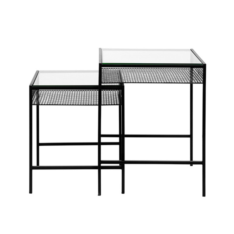 Nordal-collectie RONA table set w. clear glass plate