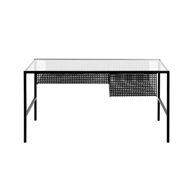 Nordal-collectie Salontafel IRONA zwart metaal met glazen plaat