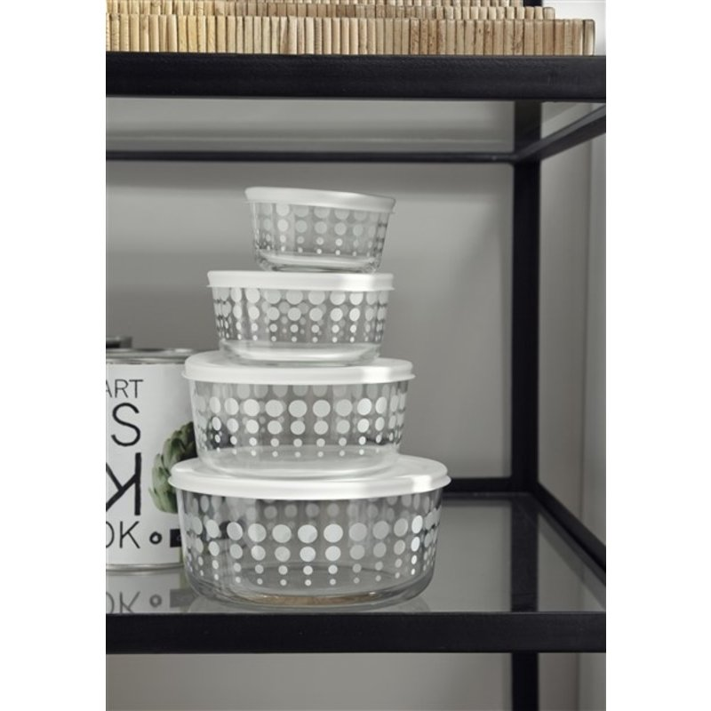 Nordal-collectie KEEP set, 4 pcs. in one, clear w/white