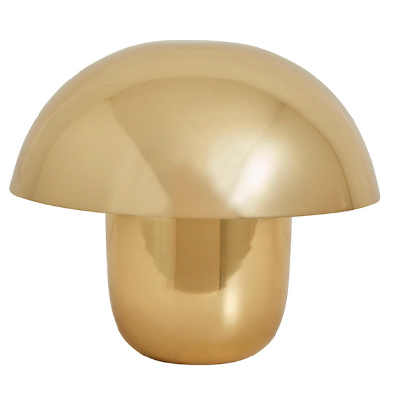 Nordal-collectie FOCUS table lamp, curvy, golden metal