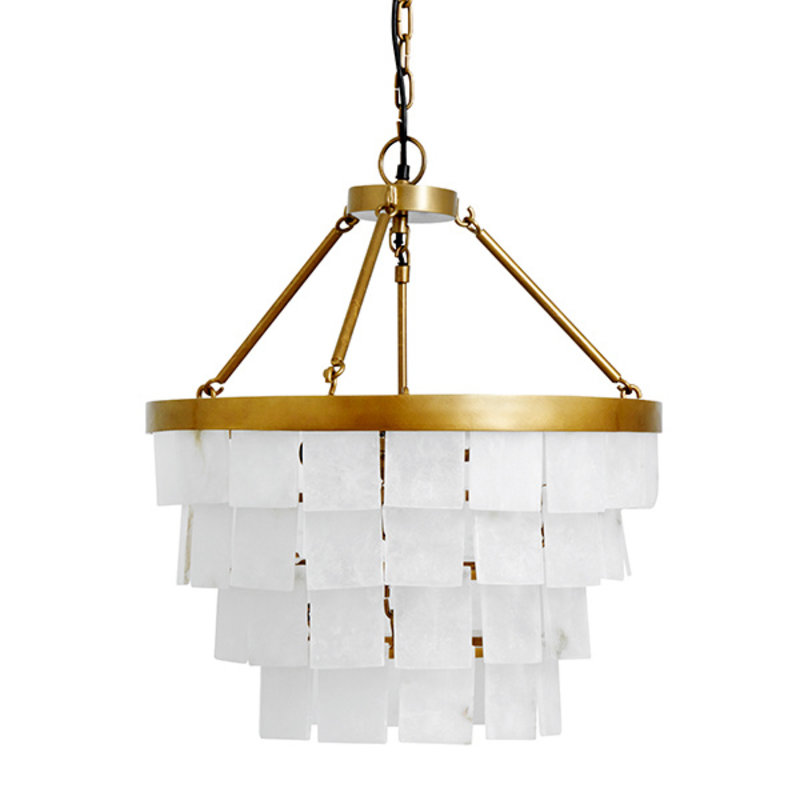 Nordal-collectie HALO white alabaster chandelier, golden