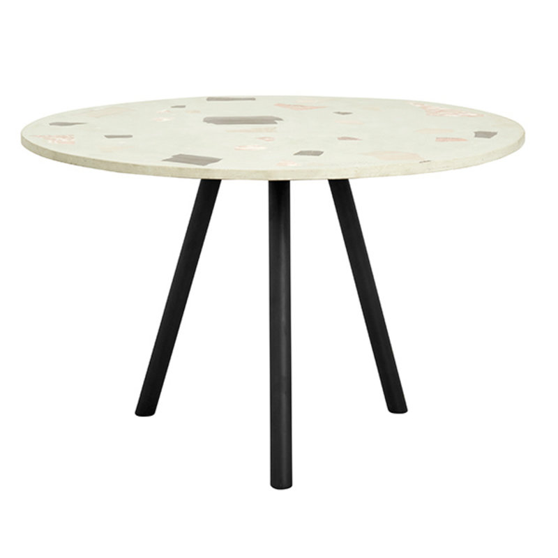 Nordal-collectie TERRAZZO dining table, pistachio green