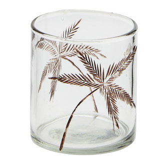 Madam Stoltz glass votive with cutting