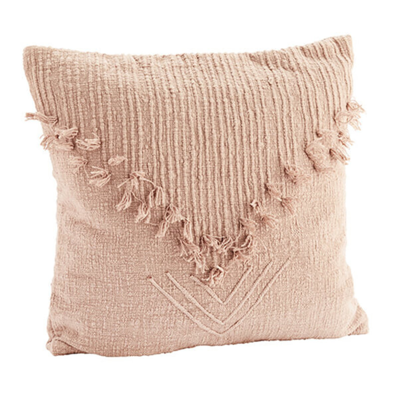 Madam Stoltz-collectie Cushion cover with fringes