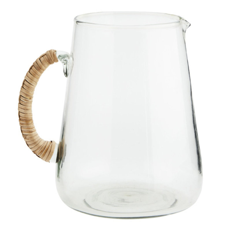 Madam Stoltz-collectie glass jug with bamboo handle