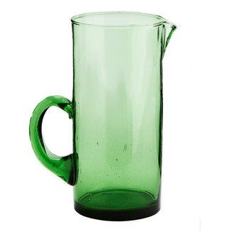 Madam Stoltz Beldi glass jug green