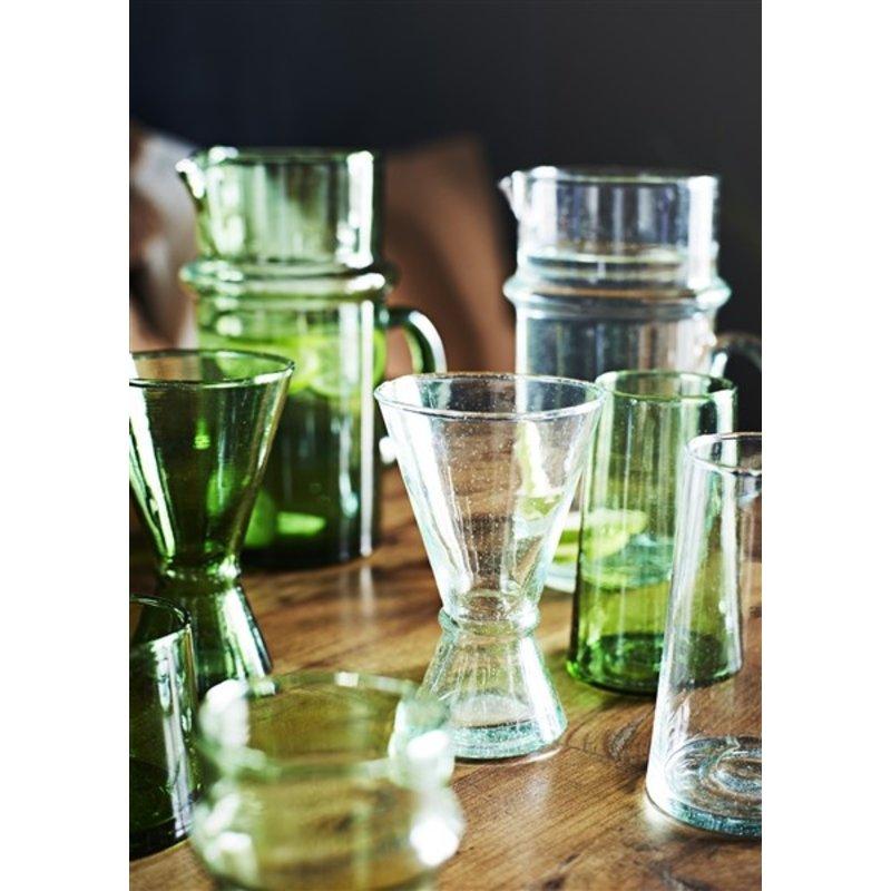 Madam Stoltz-collectie Beldi glass jug green