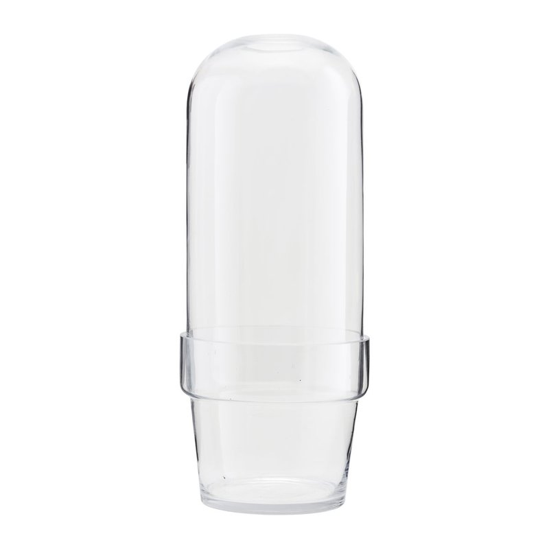 House Doctor-collectie Glass bell w. planter Clear