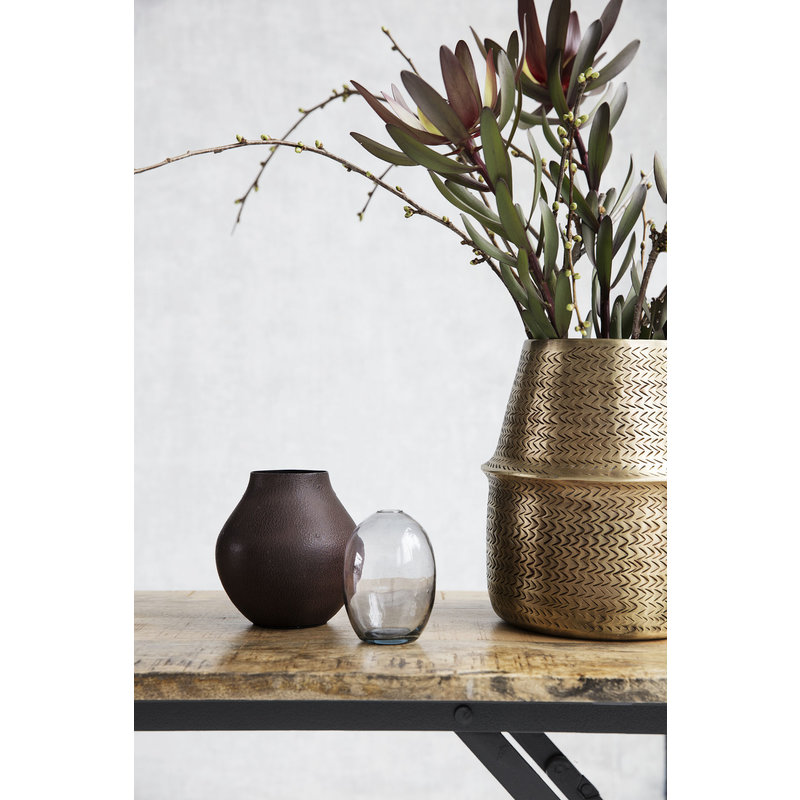 House Doctor-collectie Vase Kojo Burgundy/Brown