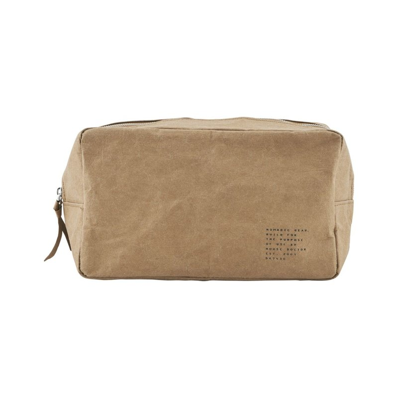 House Doctor-collectie Toilet bag, Nomadic, Light brown