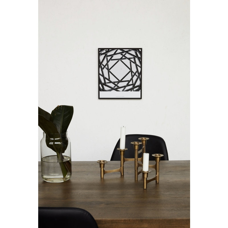 House Doctor-collectie Illustration w. frame, Prospections 01, Black, By Anders Hvenegaard
