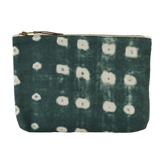 House Doctor Cosmetic bag, Dots, Green