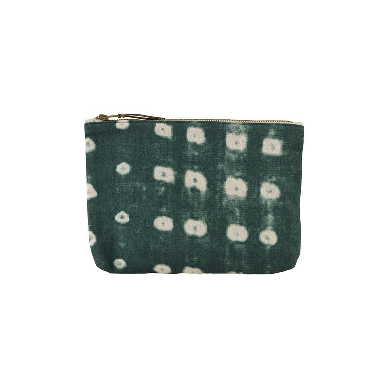 House Doctor-collectie Cosmetic bag, Dots, Green