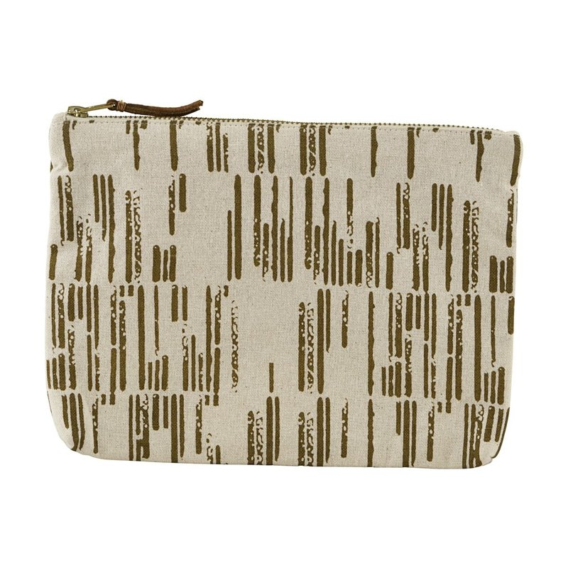 House Doctor-collectie Make-up tas Row Zand
