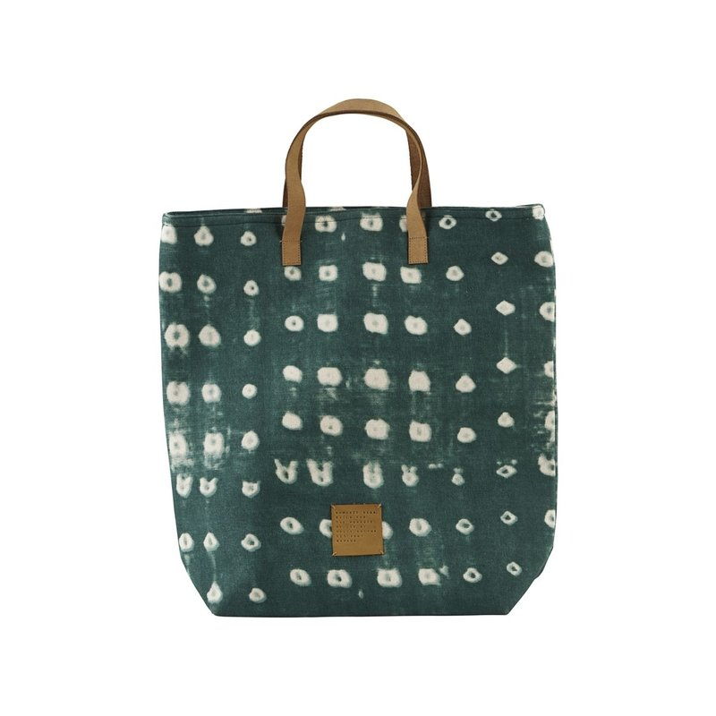 House Doctor-collectie Shopping bag, Dots, Green