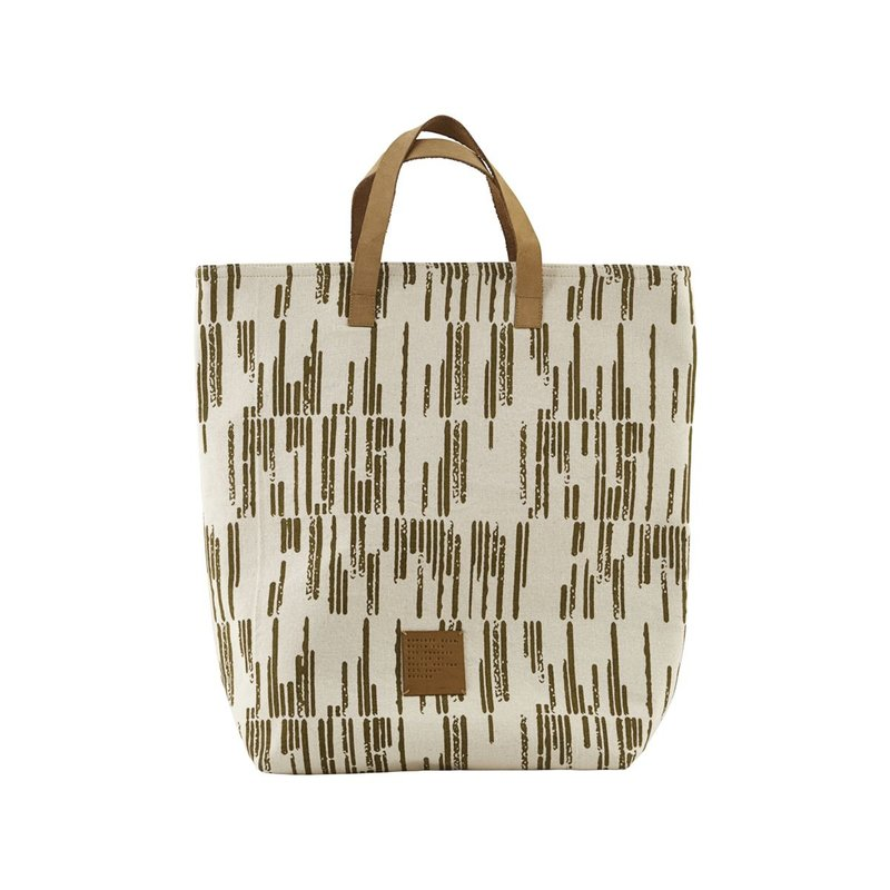 House Doctor-collectie Shopping bag, Row, Sand