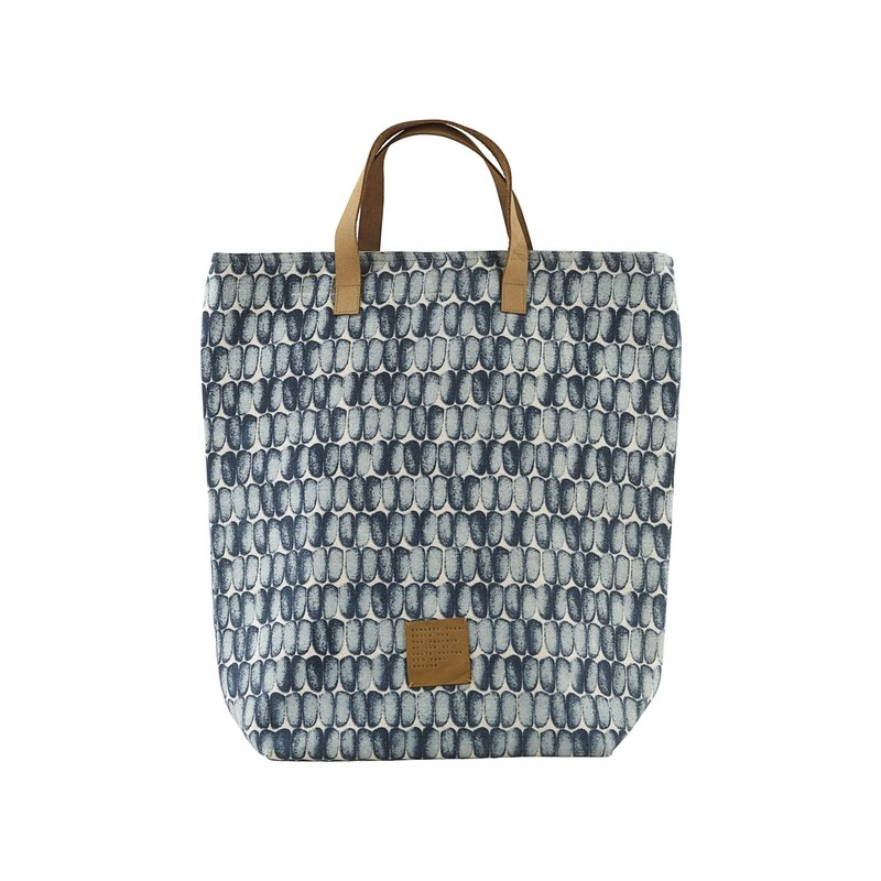 House Doctor-collectie Shopping bag, Braid, Blue