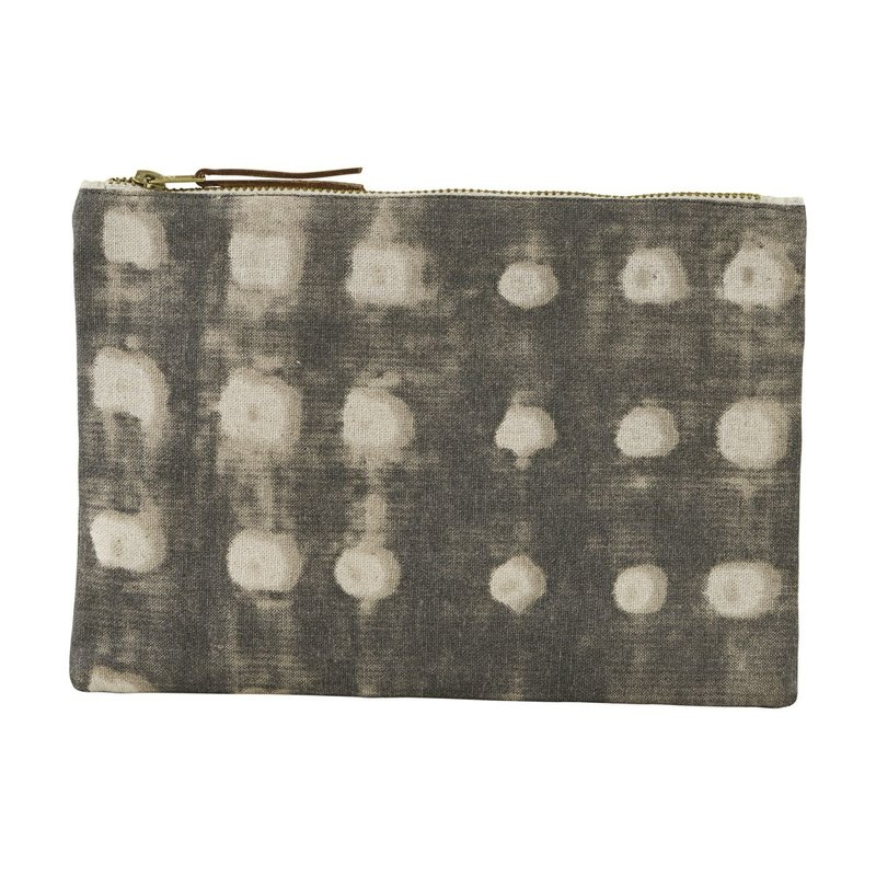 House Doctor-collectie Cosmetic bag, Dots, Grey