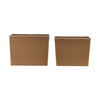 House Doctor Storage, Box 2, Brown, Set of 2 sizes