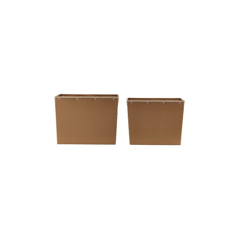 House Doctor-collectie Storage, Box 2, Brown, Set of 2 sizes