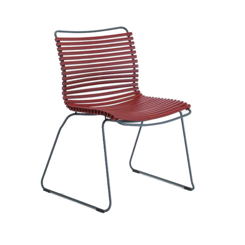 Houe-collectie CLICK Dining Chair without armrests paprika
