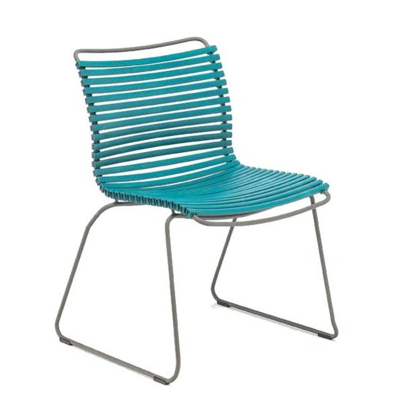 Houe-collectie CLICK Dining Chair without armrests petrol