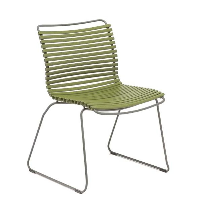 Houe-collectie CLICK Dining Chair without armrests olive green
