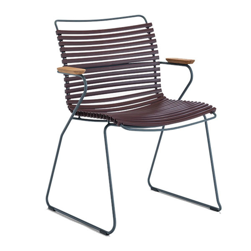 Houe-collectie CLICK Dining Chair with Armrests in bamboo plum