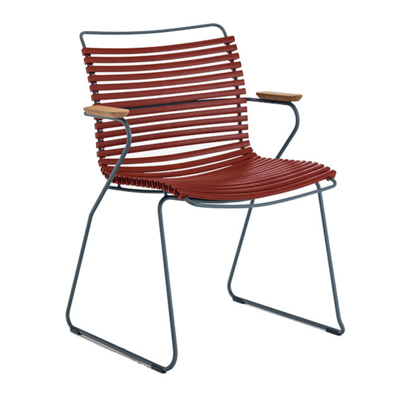 Houe-collectie CLICK armchair tuinstoel paprika