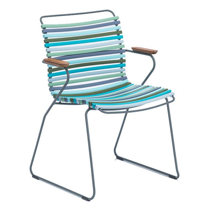 Houe-collectie CLICK Dining Chair with Armrests in bamboo multicolor 2