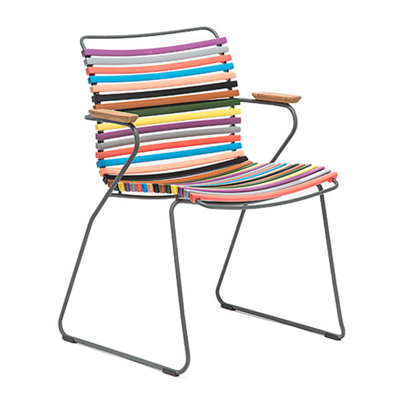 Houe-collectie CLICK Dining Chair with Armrests in bamboo multicolor 1