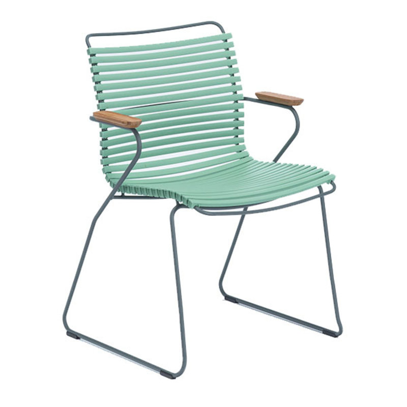 Houe-collectie CLICK Dining Chair with Armrests in bamboo dusty green