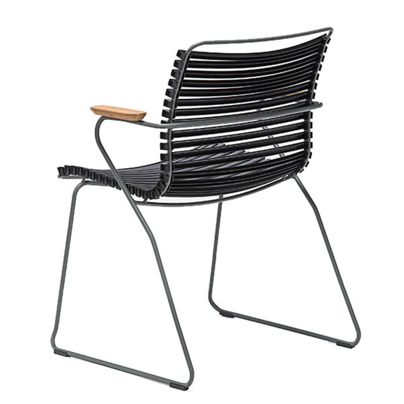 Houe-collectie CLICK Dining Chair with Armrests in bamboo zwart