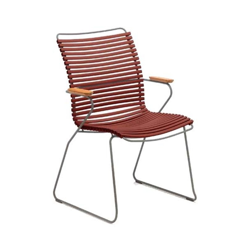 Houe-collectie CLICK armchair tall tuinstoel paprika