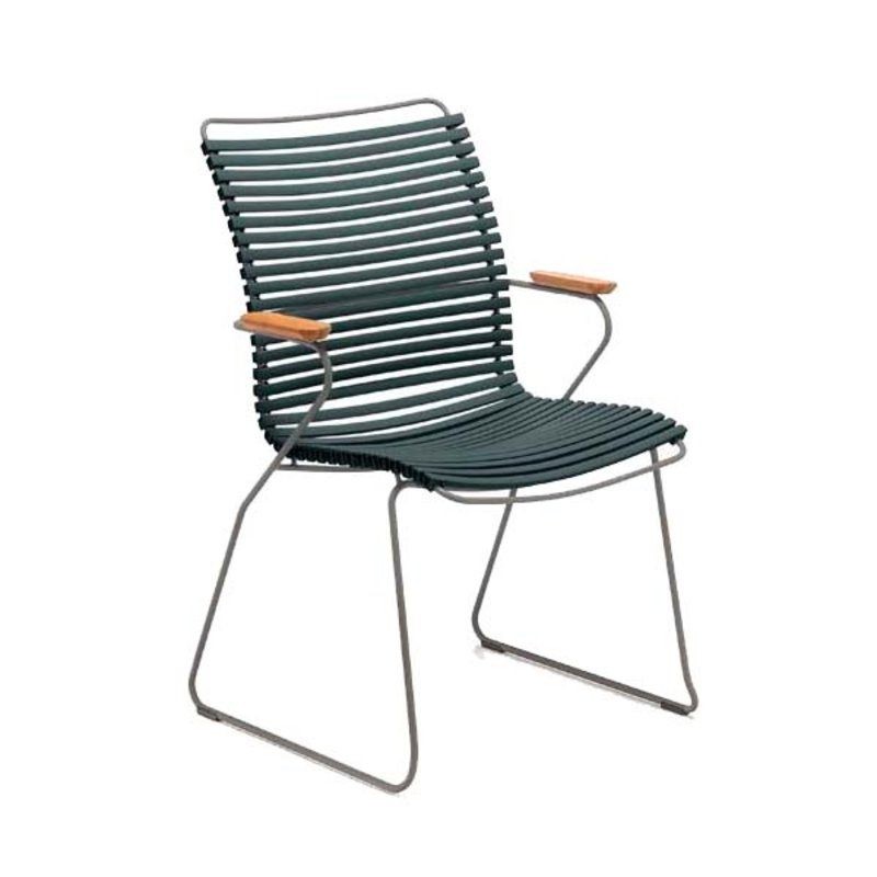 Houe-collectie CLICK armchair tall tuinstoel pine green