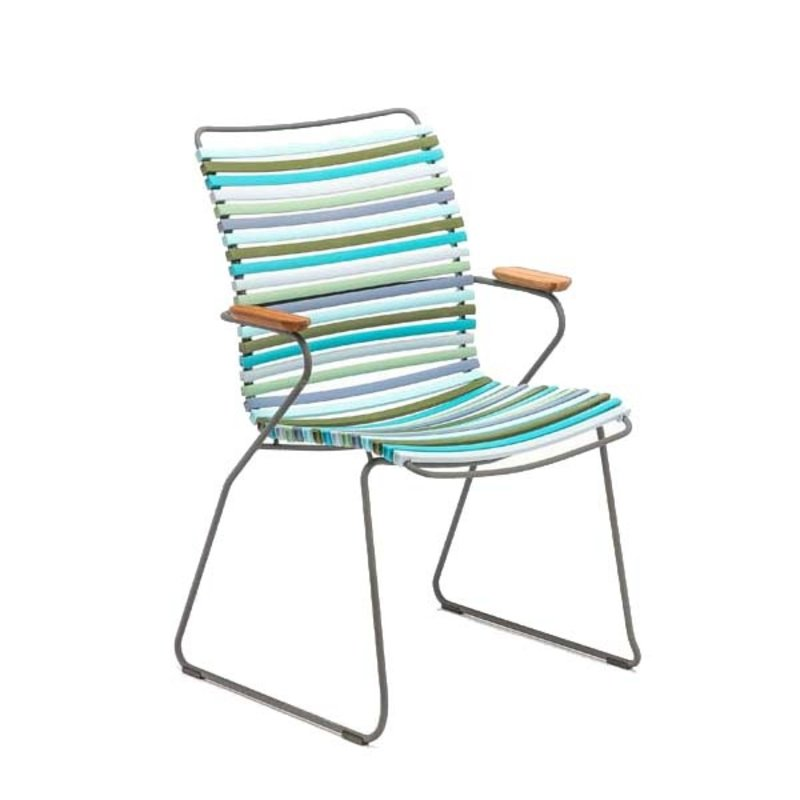 Houe-collectie CLICK Dining Chair Tall with Armrests in bamboo multicolor 2