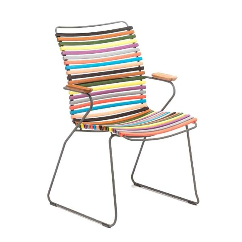 Houe-collectie CLICK Dining Chair Tall with Armrests in bamboo multicolor 1