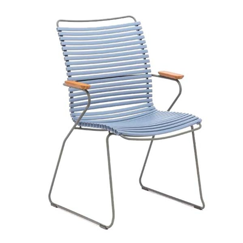 Houe-collectie CLICK Dining Chair Tall with Armrests in bamboo pigeon