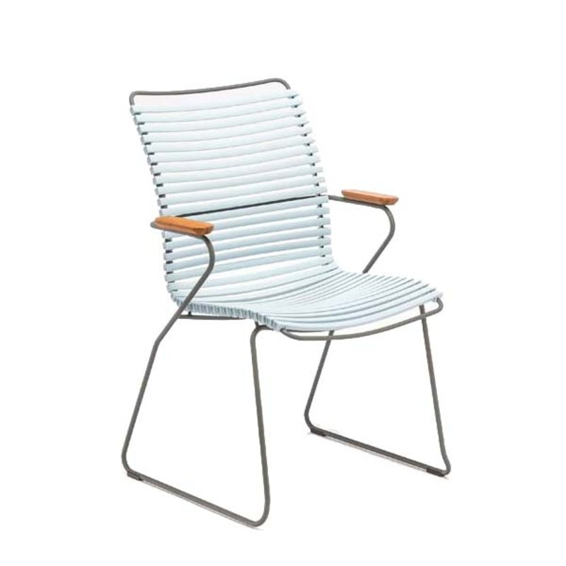 Houe-collectie CLICK armchair tall tuinstoel dusty blue
