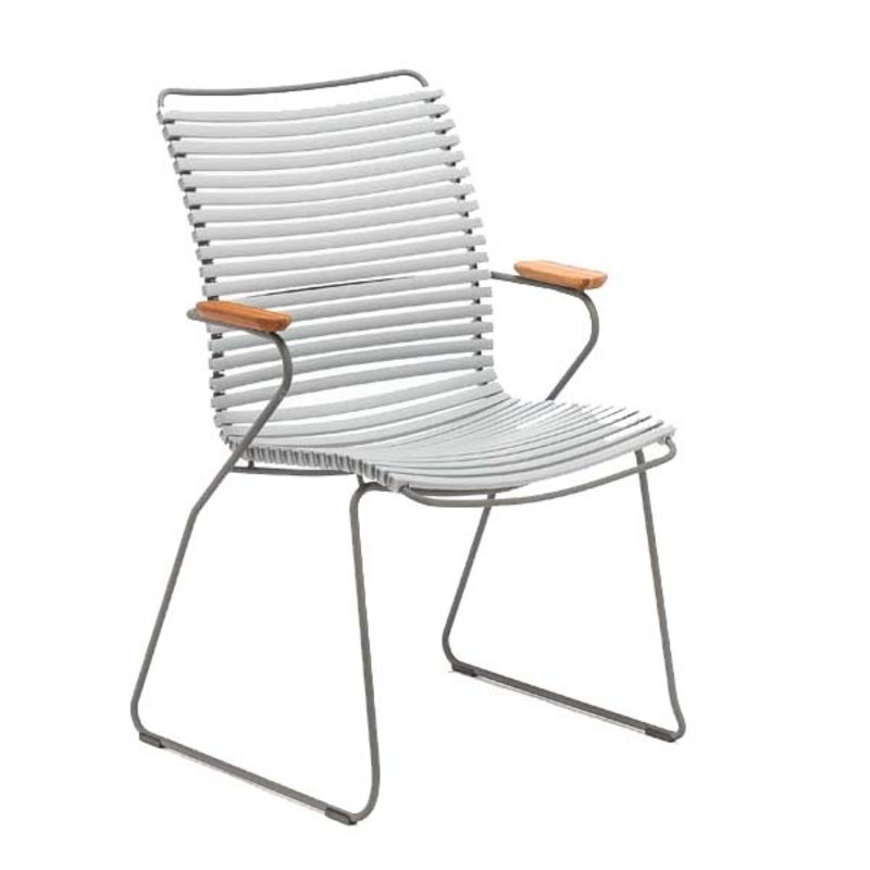 Houe-collectie CLICK Dining Chair Tall with Armrests in bamboo grey